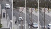 Rowerzysta zderzył się z samochodem