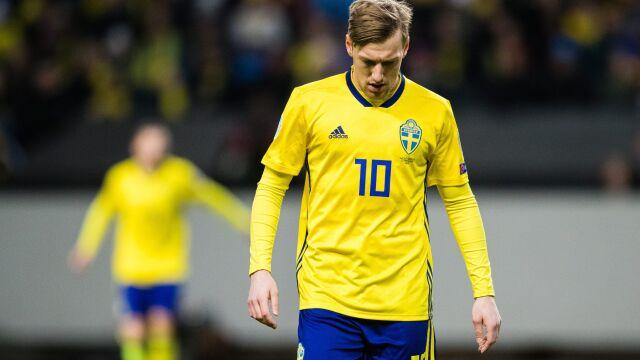 Napastnik Szwedów wściekły na decyzję trenera. Po meczu opuścił zgrupowanie