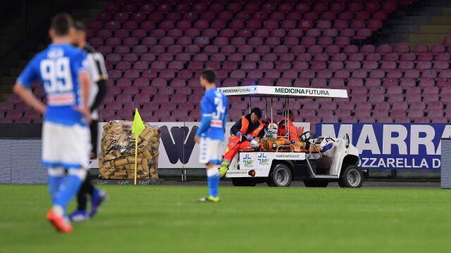 """Bramkarz Napoli wypisany ze szpitala. """"Omdlenie wazowagalne. Kilka dni odpoczynku"""""""