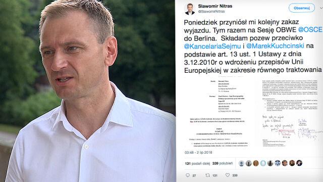 Nitras: składam pozew przeciwko Kancelarii Sejmu i Kuchcińskiemu