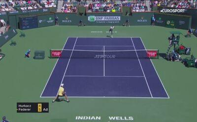 Hurkacz przegrał z Federerem w ćwierćfinale turnieju w Indian Wells