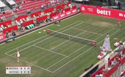 Kvitova lepsza w dwóch setach od Bertens w Bett1 Aces