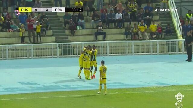 Pierwszy gol Goulona w starciu z Perak w półfinale Pucharu Malezji