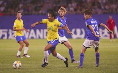 Marta podczas meczu MŚ kobiet Brazylia - Włochy