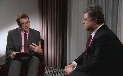 Prezydent Petro Poroszenko w TVN24 BiŚ