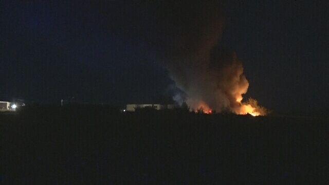 Pożar składowiska chemikaliów w Kujawsko-Pomorskiem