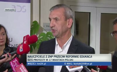 Broniarz: gdyby nie protest ZNP, nie byłoby rozmów dotyczących reformy edukacji