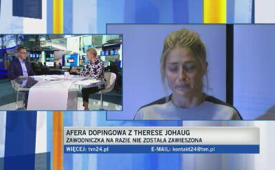 Ekspert o wpadce dopingowej Johaug