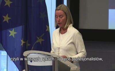 Ostatnie przemówienie szefowej unijnej dyplomacji