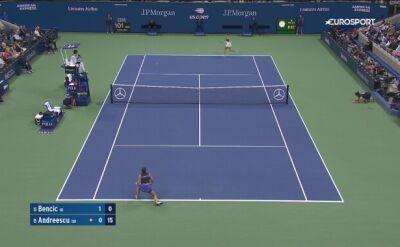 Skrót meczu Bencic - Andreescu w półfinale US Open