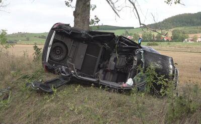 Straciła panowanie nad autem i uderzyła w drzewo. Była pijana