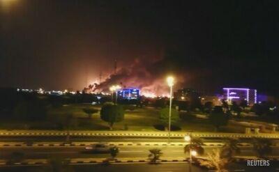 Atak dronów wywołał pożar w rafinerii koncernu Aramco