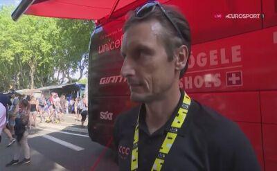 Piotr Wadecki po 11. etapie Tour de France