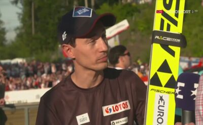 Kamil Stoch ogląda Tour de France
