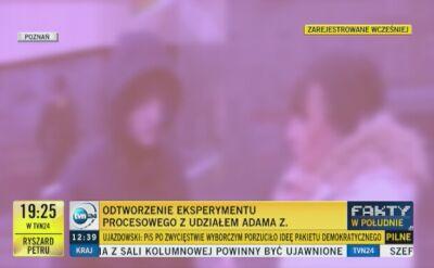 Podczas pierwszej rozprawy pokazano nagrania z eksperymentu procesowego