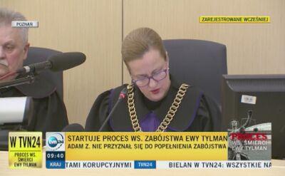 Sąd odczytał zeznania i opis zdarzenia