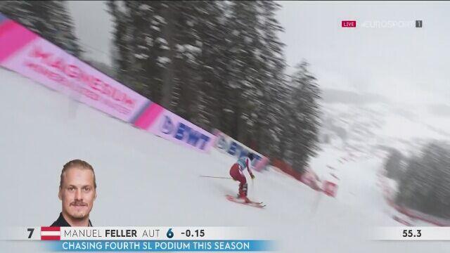 Manuel Feller wygrał slalom w Lenzerheide