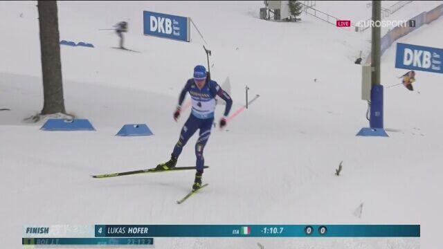 Lukas Hofer najszybszy w biathlonowym sprincie na 10 km w Oestersund