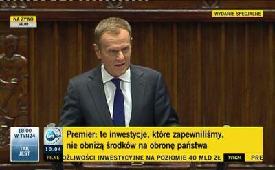 Premier o bezpieczeństwie Polski