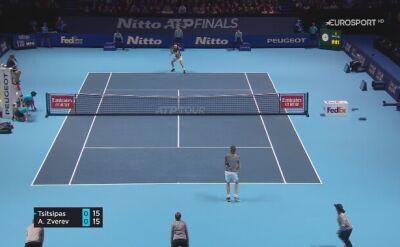 Skrót meczu Tsitsipas - Zverev na ATP Finals