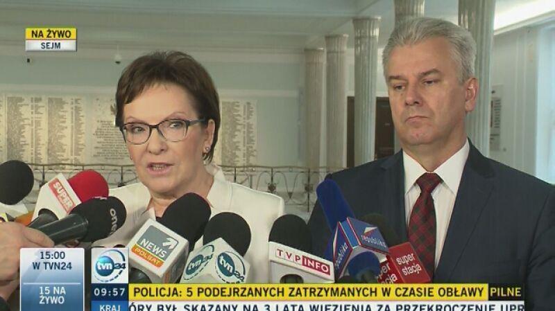 Kopacz: maski spadły i to jeszcze zanim premier Szydło wygłosiła expose