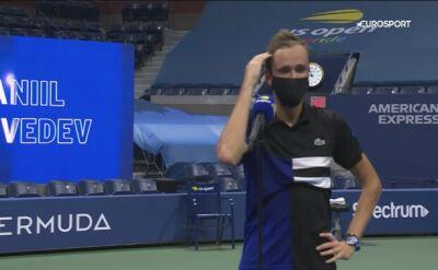 Danił Miedwiediew po meczu z Tiafoe w 4. rundzie US Open