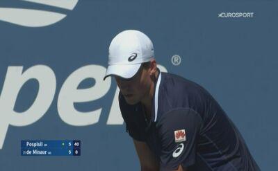 Skrót meczu Alex de Minaur -  Vasek Pospisil w 4. rundzie US Open