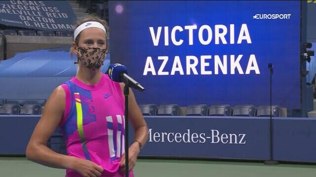 Wywiad z Wiktorią Azarenką po awansie do finału US Open