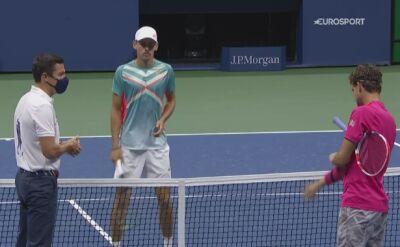 Skrót meczu Alex de Minaur - Dominic Thiem w ćwierćfinale US Open