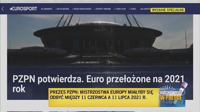 Euro 2020 przełożone na 2021 rok