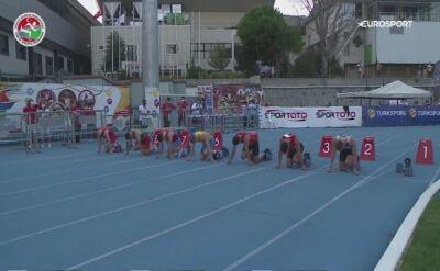 Kot wtargnął na bieżnię podczas sprintu na 100 m