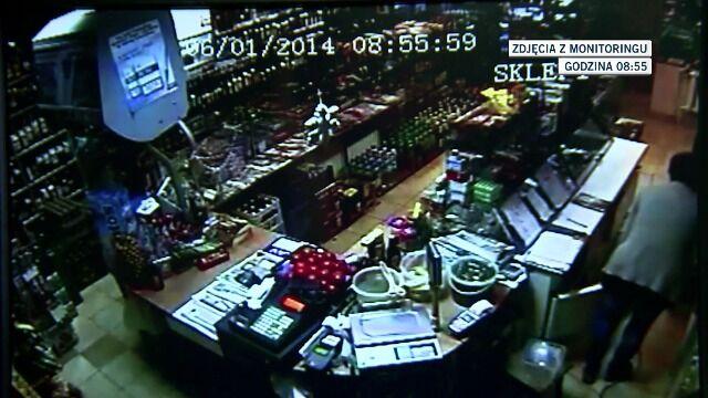 34-latka nagrały kamery monitoringu w sklepie