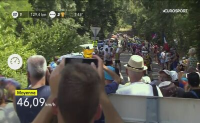 Upadek Gerainta Thomasa na 16. etapie Tour de France