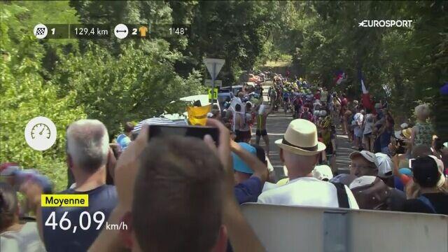 Upadek Gerainta Thomasa na 16. etapie Tour de France
