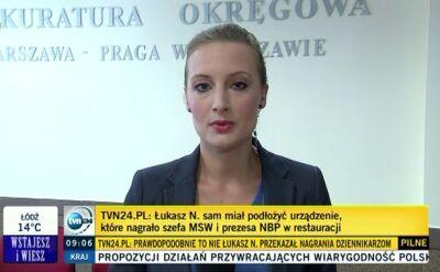 To Łukasz N. osobiście nagrywał Sienkiewicza i Belkę. Szczegóły zarzutów