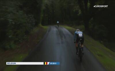 Upadek belgijskiego kolarza podczas jazdy na czas w ME