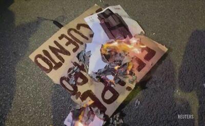 Demonstranci nie chcieli wizyty rodziny królewskiej w Barcelonie