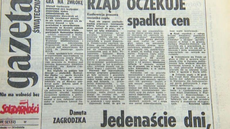 """Konsekwencje planu Balcerowicza (fragment programu """"Czarno na białym"""")"""
