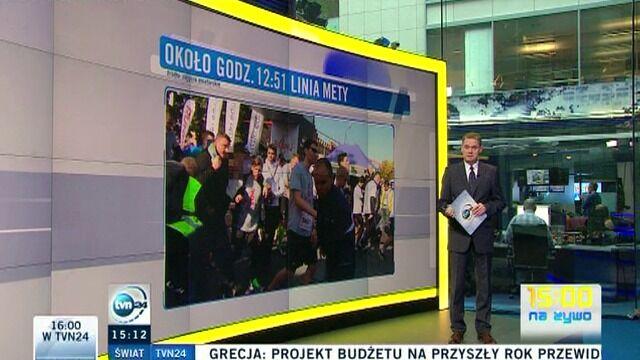 Relacja z tragicznych wydarzeń podczas warszawskiego biegu