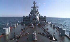 Rosyjski krążownik Moskwa u wybrzeży Syrii
