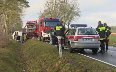 Policja o wypadku pod Wołowem