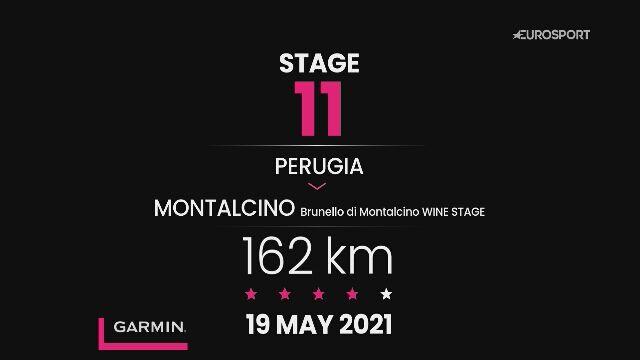 Giro d'Italia 2021 - profil 11. etapu: Perugia - Montalcino