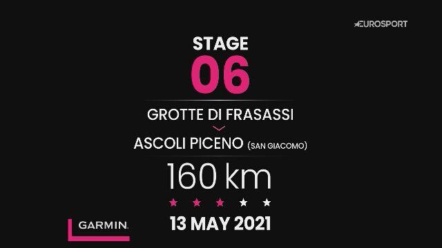 Giro d'Italia 2021 - profil 6. etapu: Grotte di Frasassi - Ascoli Piceno