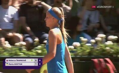Sramkova wygrała pierwszego seta w finale Bella Cup
