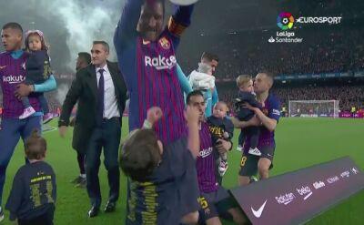 Tak Barcelona świętuje na Camp Nou kolejny tytuł