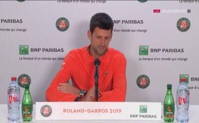 Djoković: jestem gotowy na walkę o zwycięstwo w Roland Garros