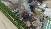 Pożar wysypiska śmieci w miejscowości Gać