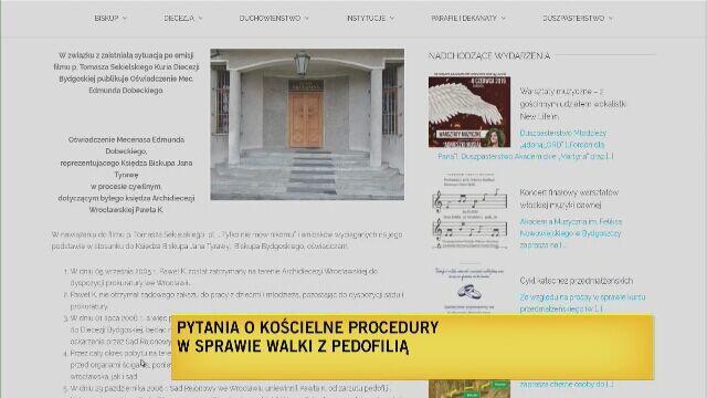 """Zarzuty o ukrywanie księdza pedofila przez biskupa Tyrawę """"nieuprawnione, nieuczciwe"""""""