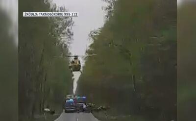 Pilot LPR: ratownik i lekarz mówią, masz dwa metry do drzewa