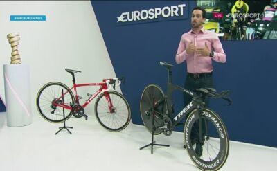 Contador porównał rower szosowy i czasowy